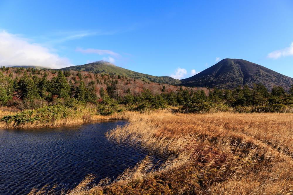 広大な自然が広がり青い空にココロがいやされる画像