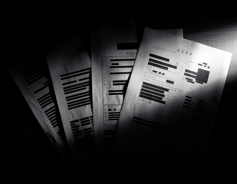 闇に葬られることになる黒塗りの重要書類